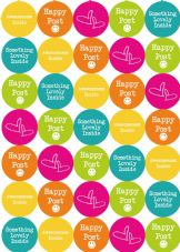 Happy Post Stickers - Bright Summer Colours